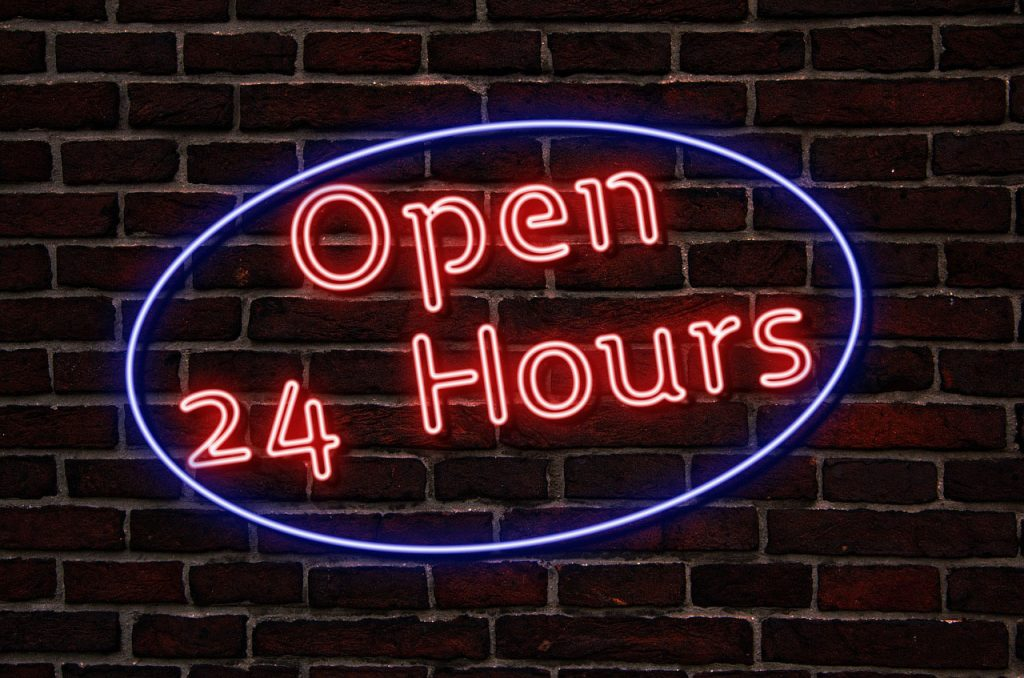 24 Hour Roadside Assistance Neon Sign