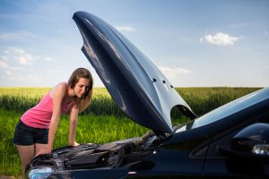 Woman In Need Of Roadside Assistance